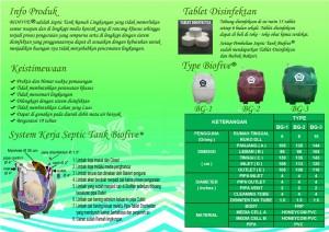 brosur biofive BG series belakang